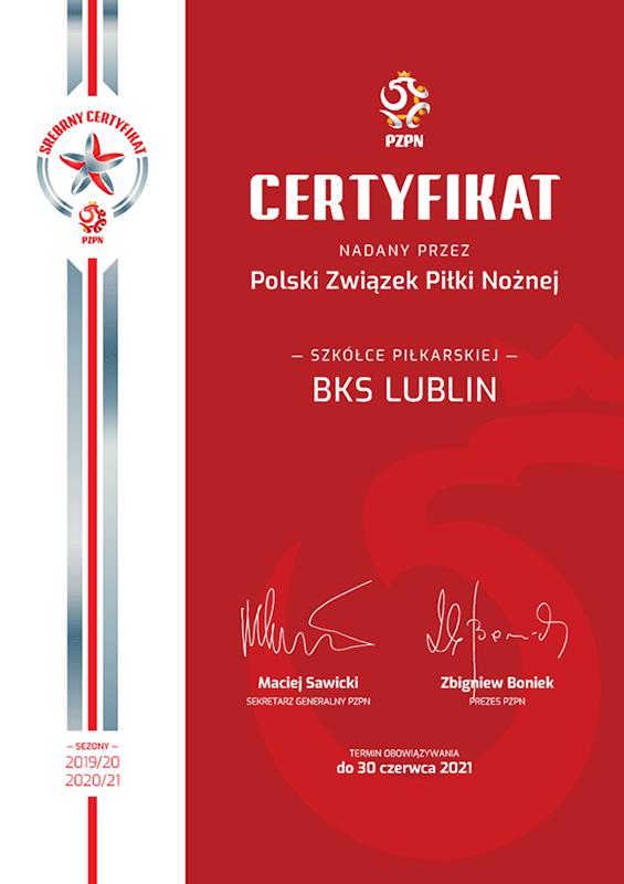 certyfikat PZPN
